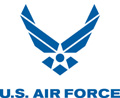 Air Force Logo Blue, With Text