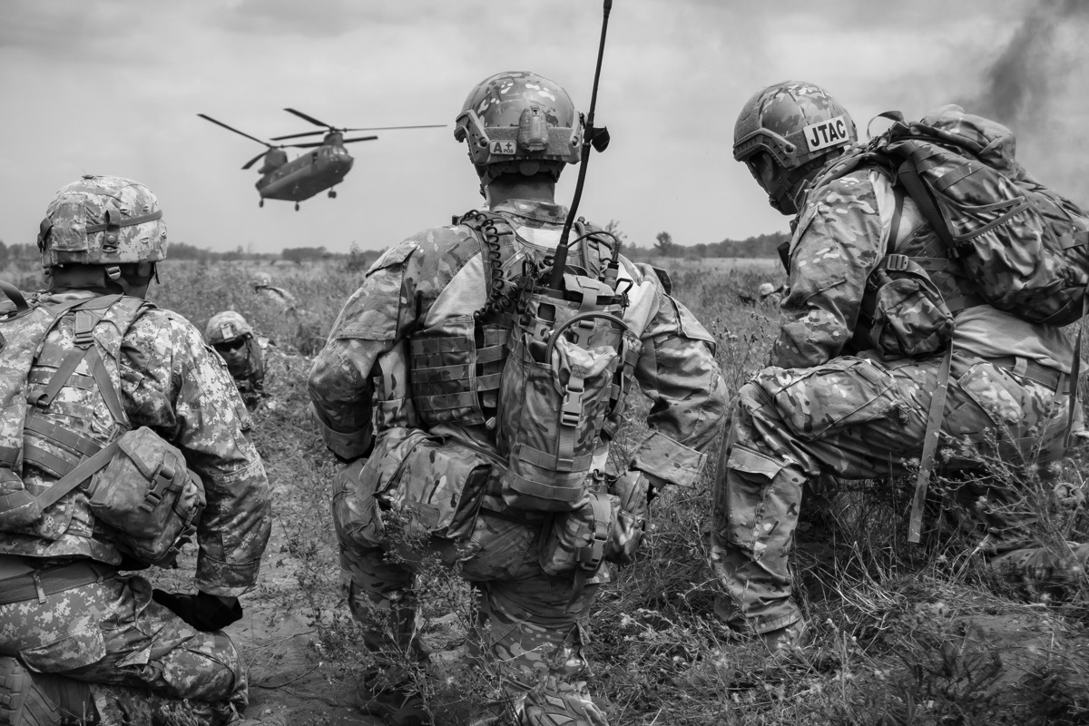Active Duty Soldiers are training in the field