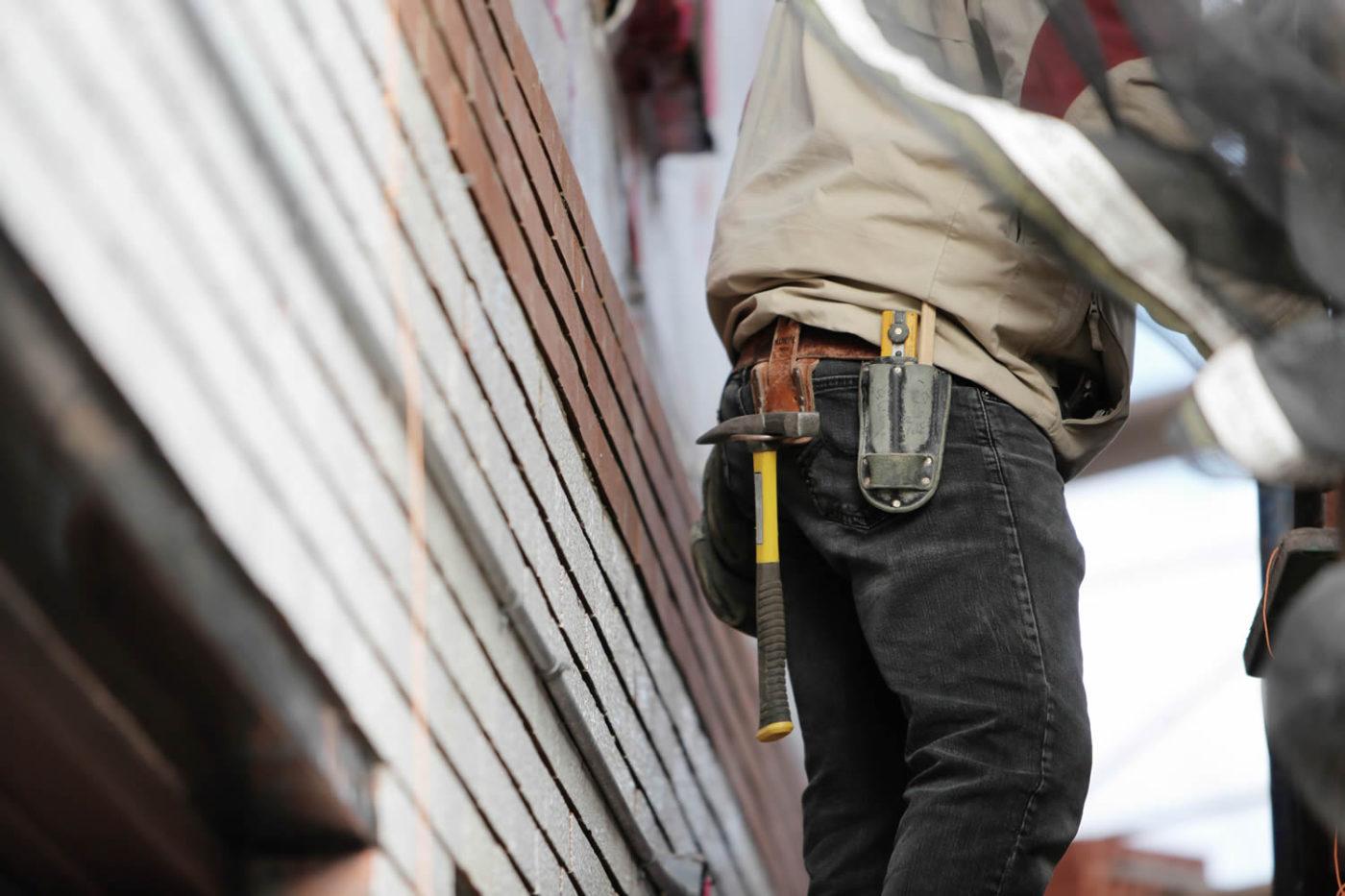 Construction man on sight
