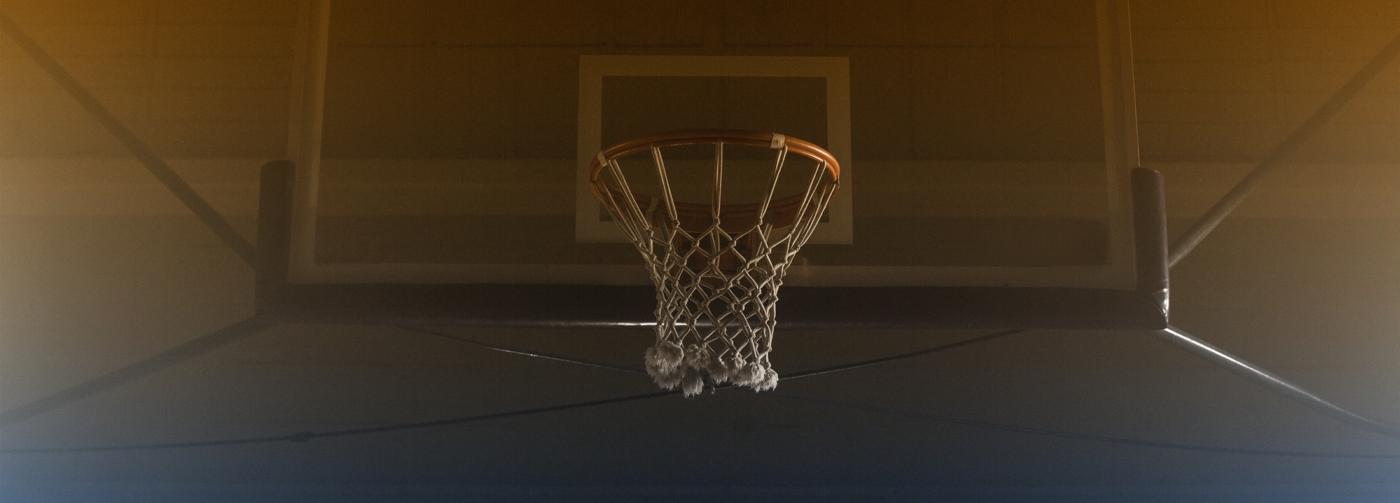 Stock Photo Basketball Hoop Hanging Agai 1914453 E1473689463584