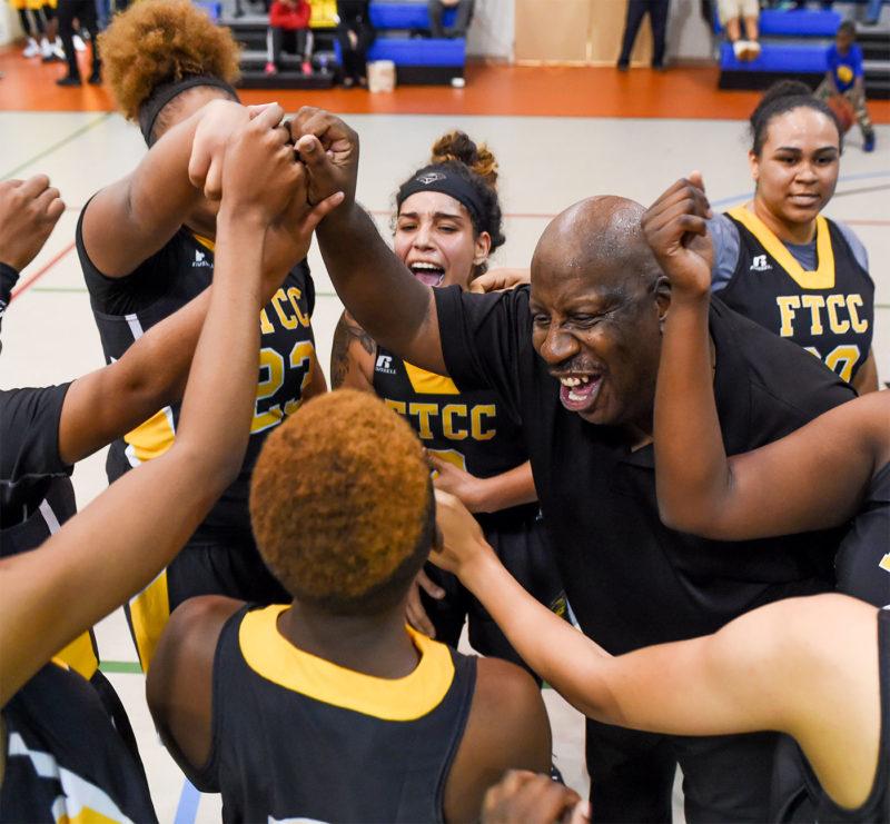 Women Basketball Huddle