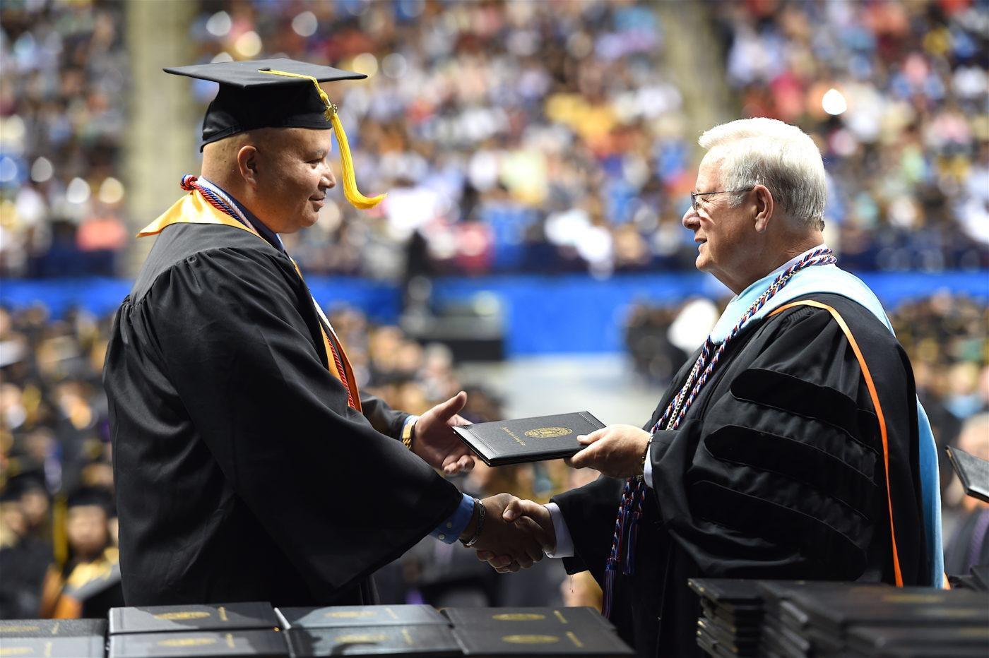 Dr keen veteran student graduation