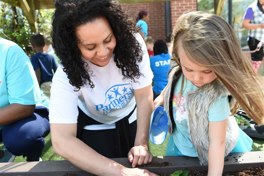 Childrens center outdoor activity