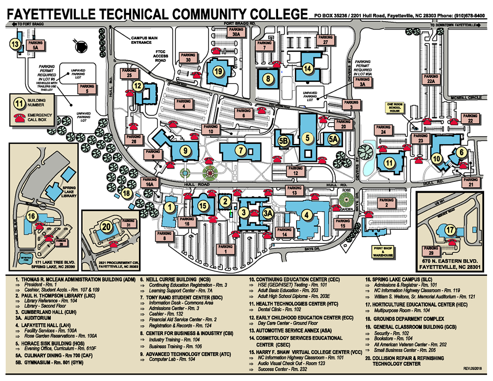 Fayetteville campus map