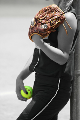 Women softball player