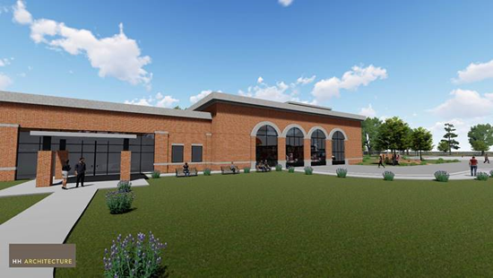 An architectural rendering depicts what the proposed FTCC Cumberland County Regional Fire and Rescue Training Center could look like. The facility would be built on 30 acres of County property in the Cumberland County Industrial Park and provide firefighter and other emergency responder education and training.