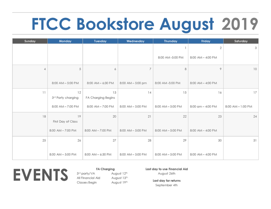 Bookstore August 2019