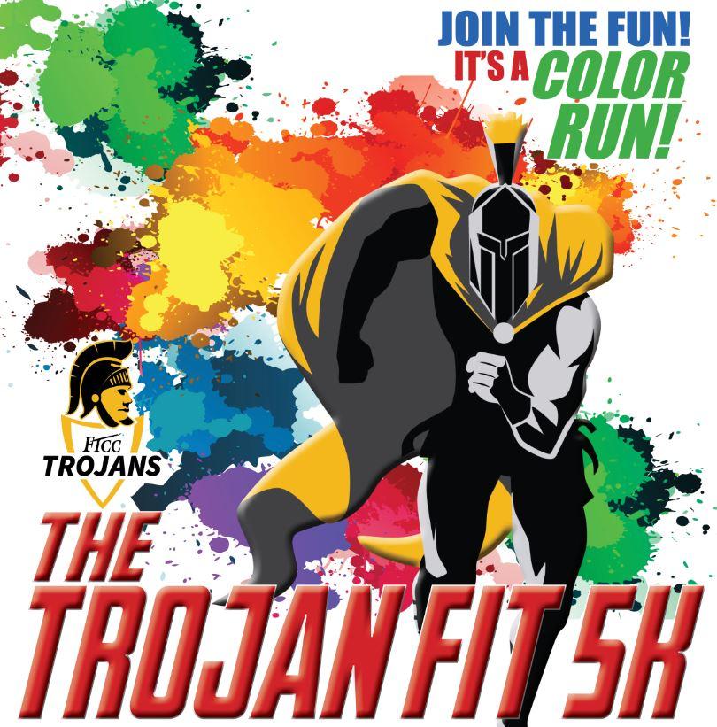 Trojan fit 5k poster july 2019