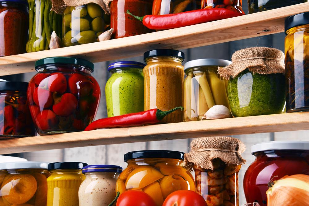 Jars With Variety Of Vegetables
