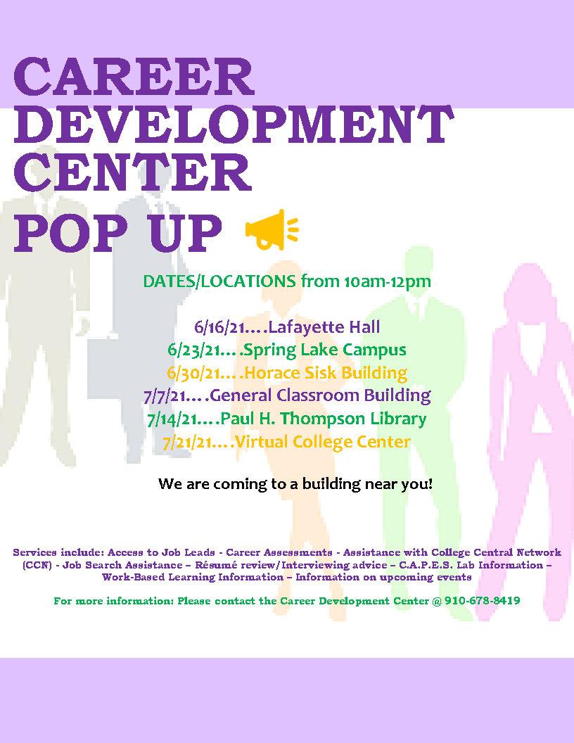 Career Development Center Pop Up Event