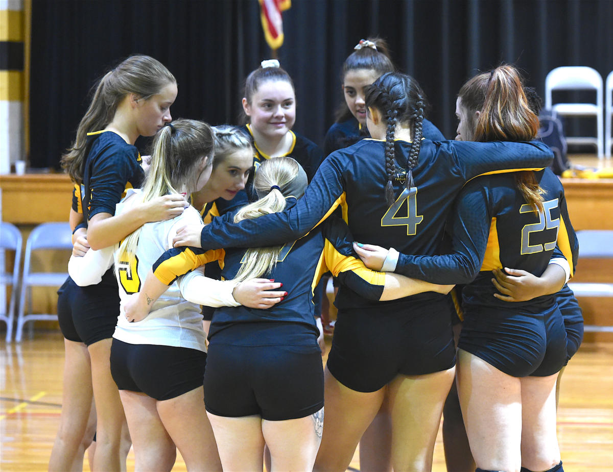FTCC volleyball faces Pitt CC on Sept. 3, 2019, at Fayetteville Tech.