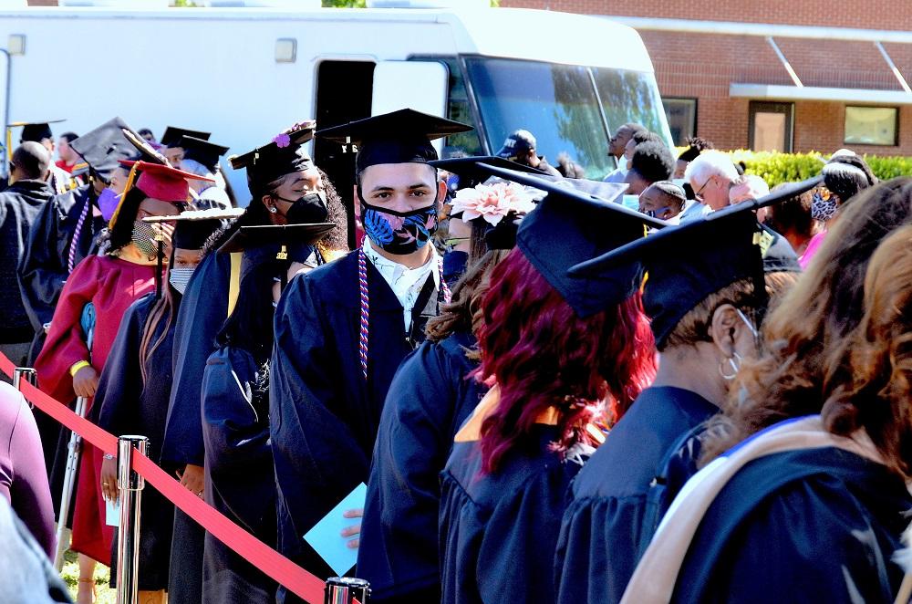 001 - FTCC graduates line up outside Tent A