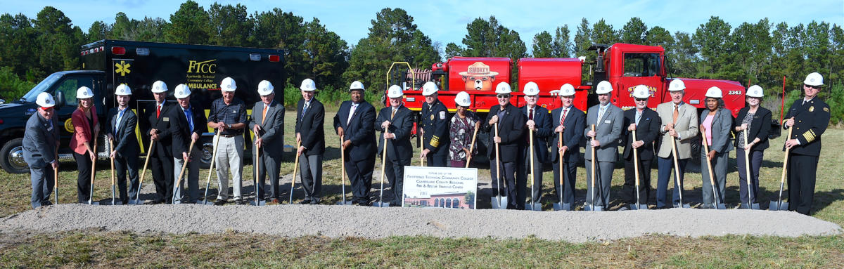 FTCC, Cumberland County Fire & Rescue Training Center Groundbreaking